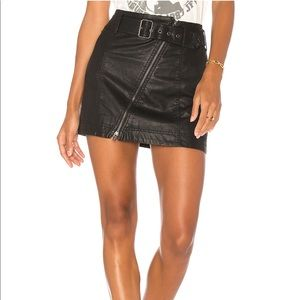 free people vegan leather feelin' good mini skirt